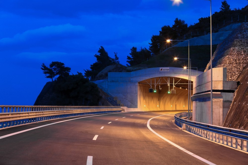 Tunnel of the new Corinth-Patra highway named after 'Panos Mylonas' - in recognition of RSI's contribution to Road Safety in Greece