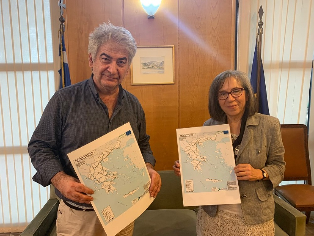 Provision of risk maps of the road network to the Ministry of Infrastructure and Transport in Greece by the European co-financed project SLAIN  (Saving Lives Assessing and Improving TEN-T Road Network Safety) and the Road Safety Institute (RSI)