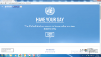 Awareness campaign for UN global survey in Greece from RSI «Panos Mylonas»